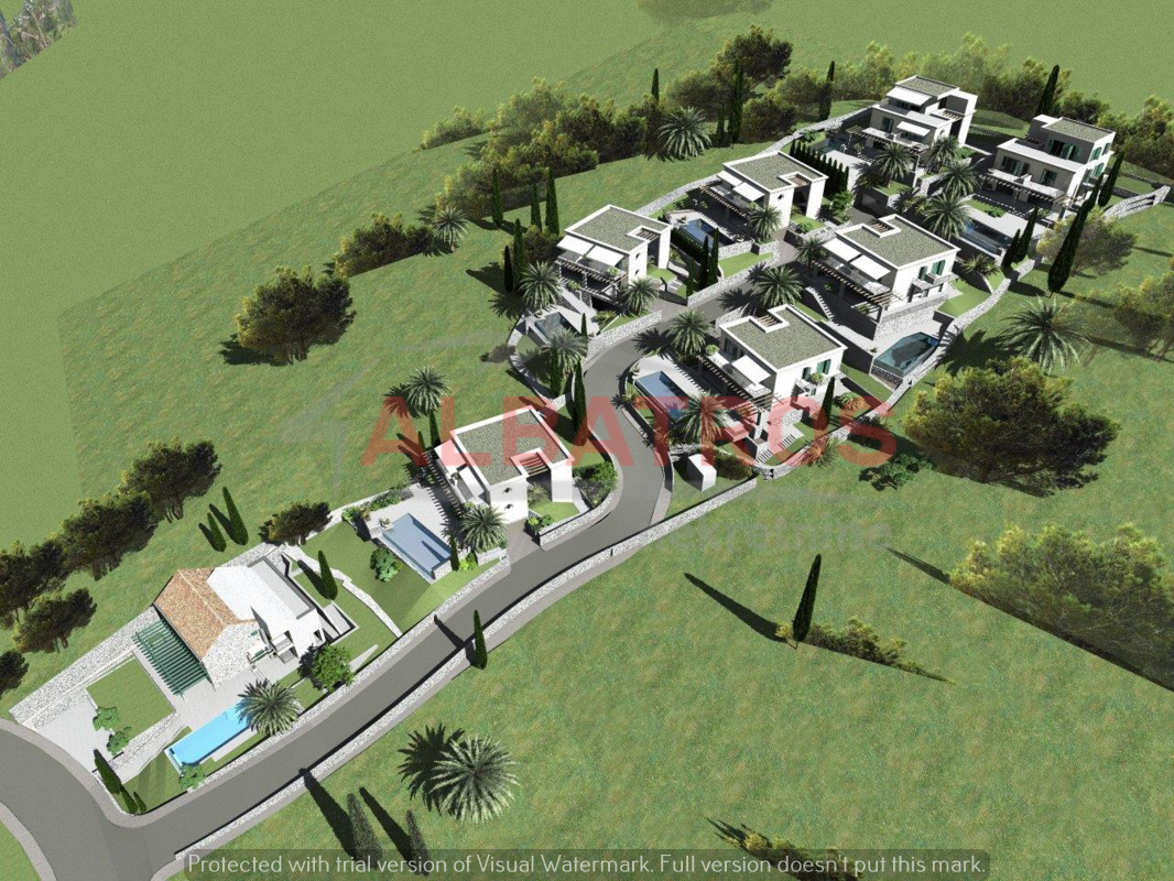 Orašac,a project for eight villas, 7000 m2